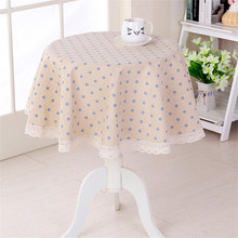 little flower printed round table cloth coffee shop table decoration cover 4 colors CKATEPTB(China)