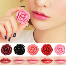 2017 Moisturizer Lip Stick Rose Flower Shape Lips Makeup Nutritious Levre Cosmetics Charming Lipstick Wet Batoms Maquiagem