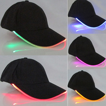 Men Women LED Light Glow Baseball Caps Hot New Fashion Adult Cool Club Party Luminous Noctilucent Flash Hat For Travel Sports(China)