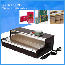 ZONESUN iphone film heat shrink wrapping machine for perfume box, Cigarettes,cosmetics,poker box blister film packaging machine