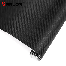 200cm x50cm 3D Carbon Fiber Vinyl Wrap Film Motorcycle Car Vehicle Stickers And Decals Sheet Roll Car Accessories Car-styling(China)