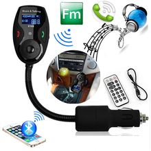NEW!!Bluetooth Car Kit MP3 with LCD Player Wireless Bluetooth FM Transmitter Modulator + RemotePopular Product hands freecar kit(China)