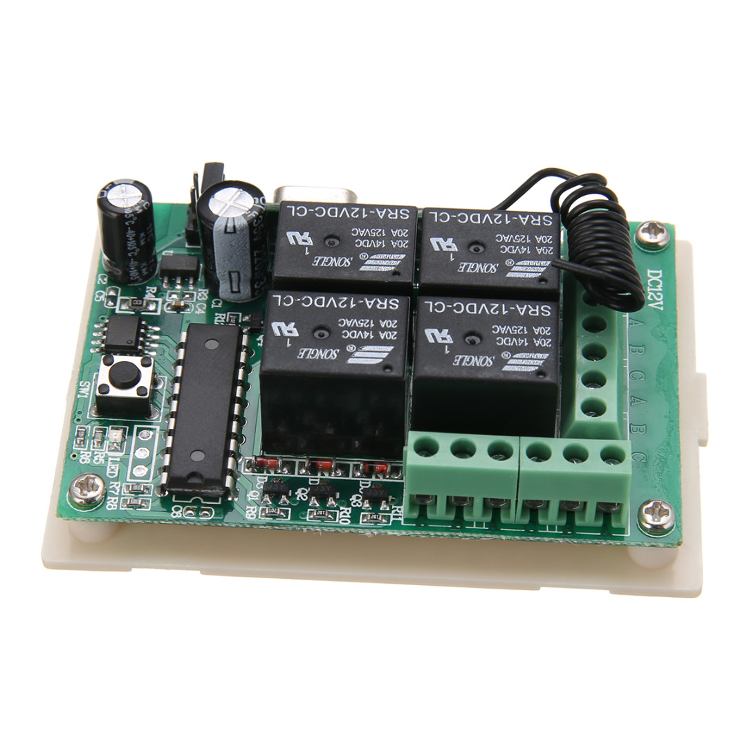 New 4pcs High Quality 433MHz Rolling Code Remote Control + 12V Wireless Relay Receiver Suitable For Car Mayitr