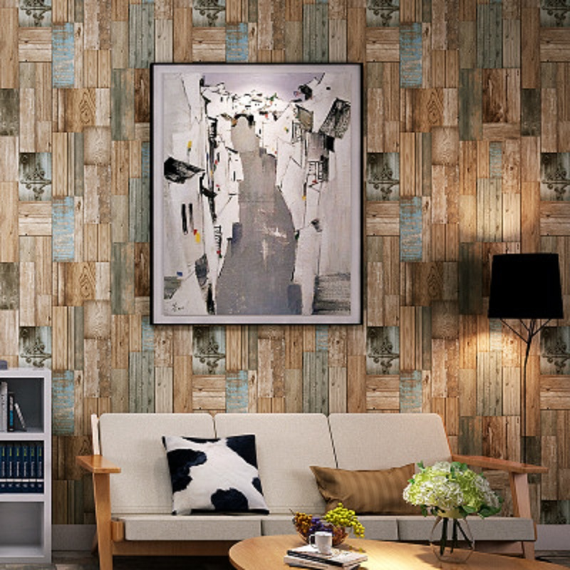 Vintatge Woods Panels Wallpaper Rolls Wall Mural Barnwood Paper 3D roll Wallpapers papel de parede decoration tapete 53x1000cm<br>