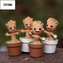 YNYNOO In Stock Brinquedos Guardians Of The Galaxy Mini Cute Model Action And Toy Figures Cartoon Movies And TV P313