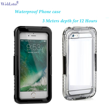 waterproof phone case for iPhone  6 6s 7 cases for iPhone  6 6s 7 plus cover sand dust shock proof secure seal for swim dive