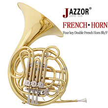 JAZZOR JZFH-310 4-key Double French Horn Entry Model, Bb/F Wind Instruments French Horns with mouthpiece Free Shipping