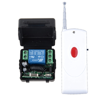 DC 12V 1CH 10A Wireless Remote Control Switch System Momentary/Toggle/Latched Adjusted 315Mhz 433Mhz Receiver Transmitter(China)