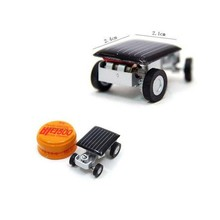 Mini Toy Solar Power Car Robot Auto Racer Educational Gadget Children Kid's Toys(China)