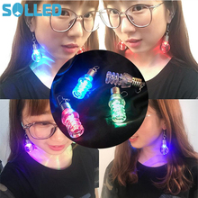SOLLED Fashion Charming Creative Colorful Glare Chandelier Lightweight LED Bulbs Earrings Very Beautiful Earrings for Girls TH(China)