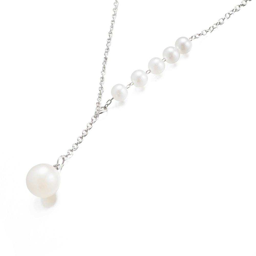 DICAYLUN women's clothing & accessories necklaces & pendants collares pearl necklace stainless steel chain gifts for women