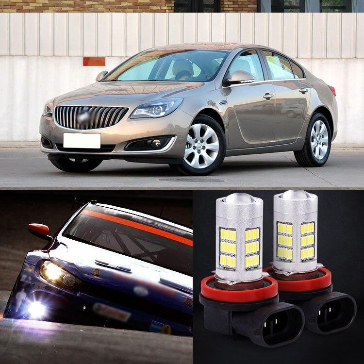 2pcs 72 SMD Daytime Running Light Bulbs LED Fog Lamp For For Buick Regal 2014<br><br>Aliexpress