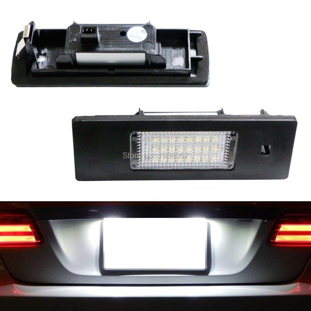 Brother-coop 2pc X LED License Lamp for BMW  E81 E87  Number Plate Light<br><br>Aliexpress