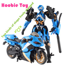Hot Sale 15cm Motorcycle Model Transformative Al West Carroll Robot Car Action toys Anime Plastic Toys Action Figure Boys Gift(China)