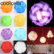 30pcs Elements Modern IQ Puzzle Jigsaw Light Lamp Shade Ceiling Lampshades Hot sell for New year&Party Supplies(China)