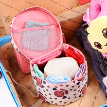 Women Fashion Cosmetic Bag Big Travel Lingerie Bra Underwear Dot Bags Cosmetic Makeup Toiletry Storage Organizer Case