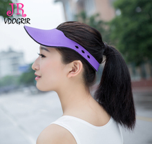 Sun Hats Double Side Wear Hot Selling Women Men Cap Visor Hat Fashion Summer Hat Easy Take Magic Usage Caps(China)