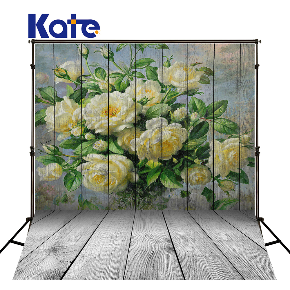 Kate Happy Mothers Day Photography Backdrops Yellow Bouquet Backgrounds  White Wood Wall Backgrounds Large Size Seamless Photo <br>