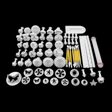 New 68Pcs/set Fondant Cake Cookie Sugar Craft Decorating Plunger Flowers Modelling Tools Set DIY Cake Cutters Molds Sugarcraft(China)