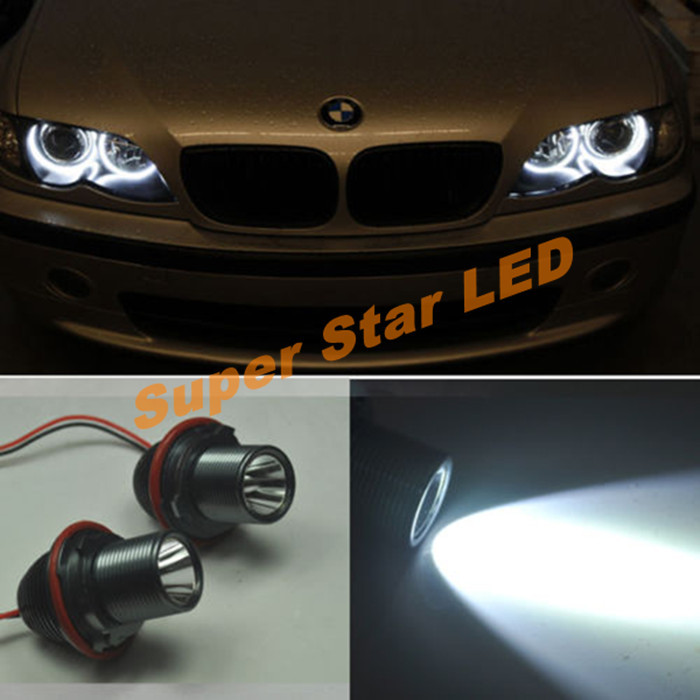 2 X Error Free CREE Chips 20W LED Angel Eye Marker Lights Bulbs For BMW E39  E53 E60 E61  E63 E64 E65 E66 E87 525i 530i  545i M5<br><br>Aliexpress