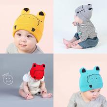 Fashion Winter Baby Hats Soft Warm Newborn Knitting Wool Hat Cute Bear Printed Skullies Beanies Caps Baby Knitted Hat for Boys(China)