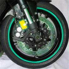 2 Sheet 18 inches MTB Bike Bicycle Cycling Motorcycle Wheel Tire Tyre Reflective Stickers Strip Decal Tape Green