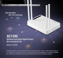 TOTOLINK  AC1200 Dual Band Gigabit WiFi Router, Access Point (AP), Wireless Repeater, WiFi Repeater A3002RU two bundle