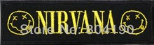 "4.9"" NIRVANA Classic Smiley Wide Logo Fashion Music Band Embroidered NEW IRON ON Patch Heavy Metal Custom patch available"