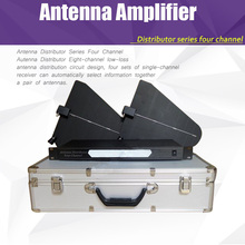 Antenna Amplifier, arena conference wireless microphone antenna distributors up to 400 meters 500-950MHz Mic Splitter Collector(China)