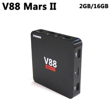 Buy V88 Mars II Smart Android 6.0 TV Box 2GB DDR3 16GB ROM RK3229 Quad Core Media Player 2.4GHz WIFI 4K HD Set Top Box PK TX2 A95X for $16.93 in AliExpress store
