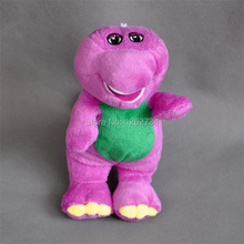 "Free Shipping EMS 100/Lot Cute Barney Plush Doll Cartoon Characters 7""  I LOVE YOU#1"