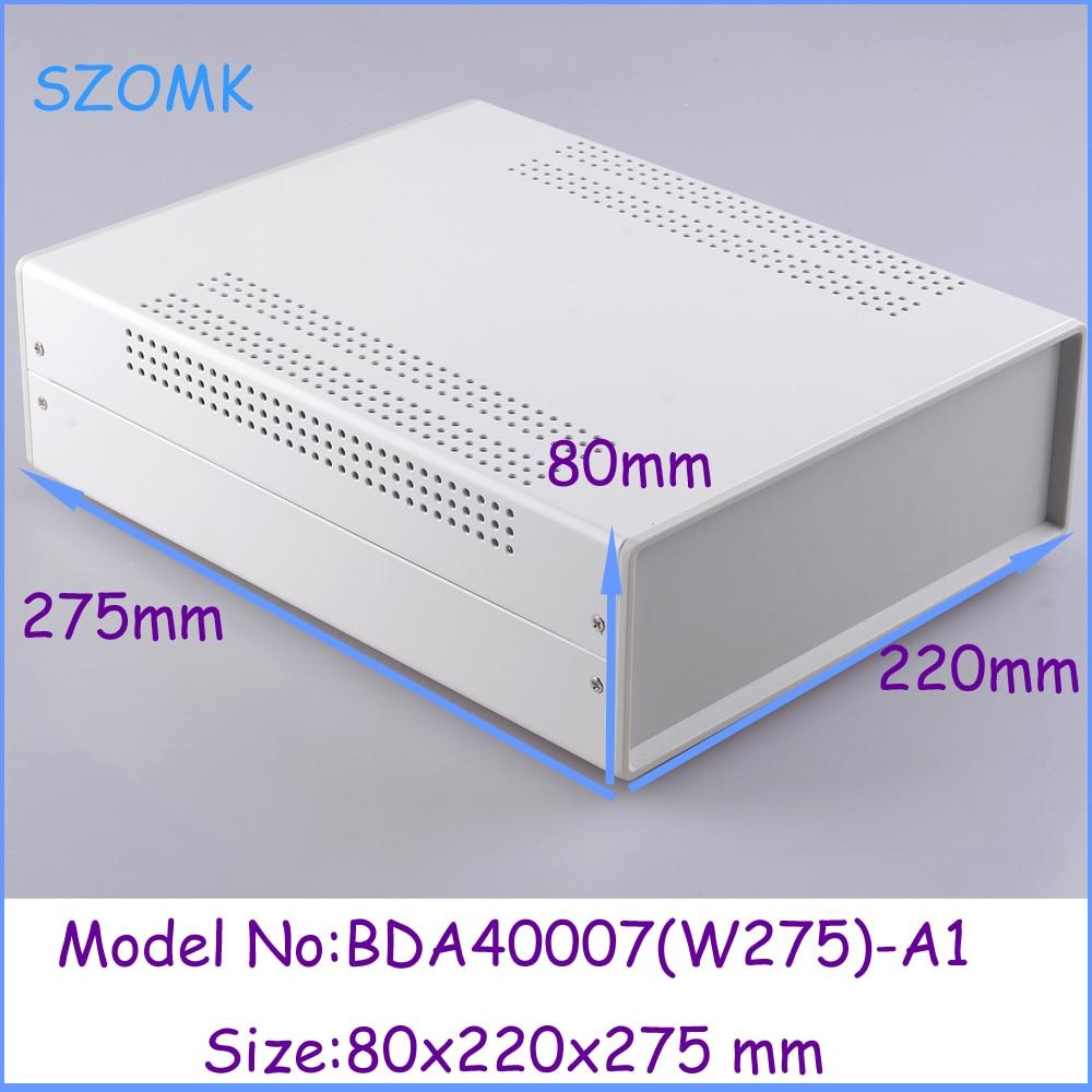 (1pcs)80x220x275mm electronic box iron enclosure metal box enclosure for electronics pcb switch metal iron steel box<br>