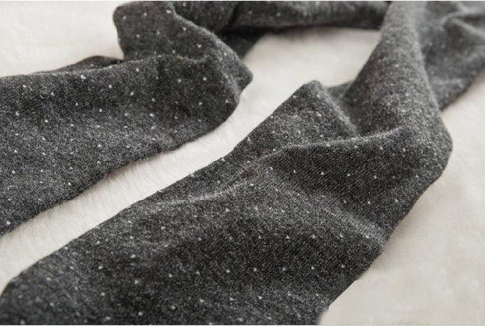 Women's Cotton Wool Leggings, Thicker Knitted, Sparkling Dot Design Autumn Legging 10