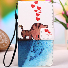 New Cartoon Colorful PU Leather Cover Case for Huawei U8950D Ascend G600 / Honor 2 U9508 Phone Case (12 Colors Available)