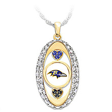 Baltimore Ravens Pride oval Pendant Necklace drop shipping Football team logo sports jewelry best christmas gift(China)