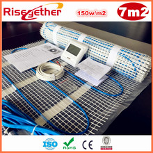 Sale 7m2 Self-adhesive  Double Conductor Heating Cable Mats 150w/m2 230V Heating Mat Energy Saving