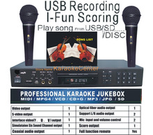 MIDI /DVD Karaoke Player/Recorder system with songs DVD/DviX/VCD ,Play song from USB /SD card/Disc