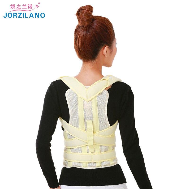 JORZILANO Unisex Adult Posture Corrector Orthopedic Belt Shoulder Support Brace Correct of the Spine Fixation straighten back <br>