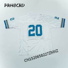 Retro star #20 Barry Sanders Embroidered Throwback Football Jersey(China)