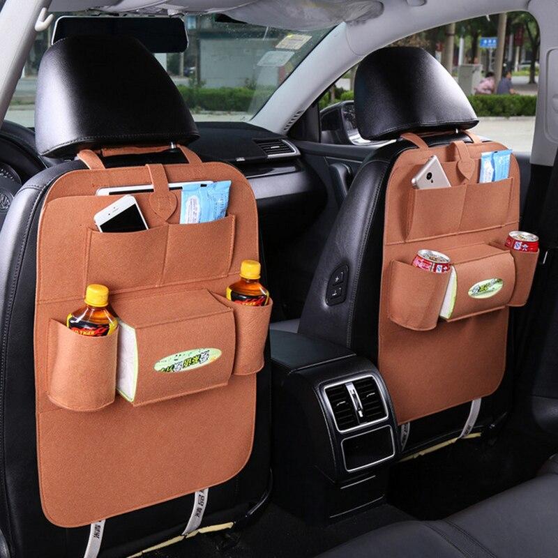 Авто Автомобильное заднее сиденье Органайзер сетка для мусора держатель мульти