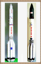 Proton Rocket 3D High Simulation Space Paper Model Handmade Toy(China)