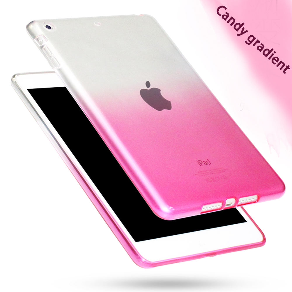 Fashion Transparent Gradient Case For apple Ipad Air 2 Case Silicon Protection cover For iPad air 2 iPad 6 Soft Plastic Cover(China)