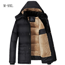 Warm cotton padded clothes Brand Plus Size Men's Jackets and Coats M-9XL Jackets Men Outerwear Winter  Male Clothing