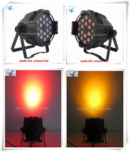 Sound activated strobe light 18x18w rgbwa uv zoom led par 64 Uv led stage light Led par64 light