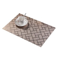 Wholesale  PVC Heat Insulation Dining Table Mat Placemat washed Disc Bowl Coasters Waterproof Cloth Slip-resistant Pad