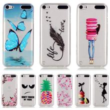 For Coque iPod Touch 5 Case Silicone Transparent 3D Relief Phone Case for iPod Touch 5 Cover For Apple iPod Touch 5 TPU Case