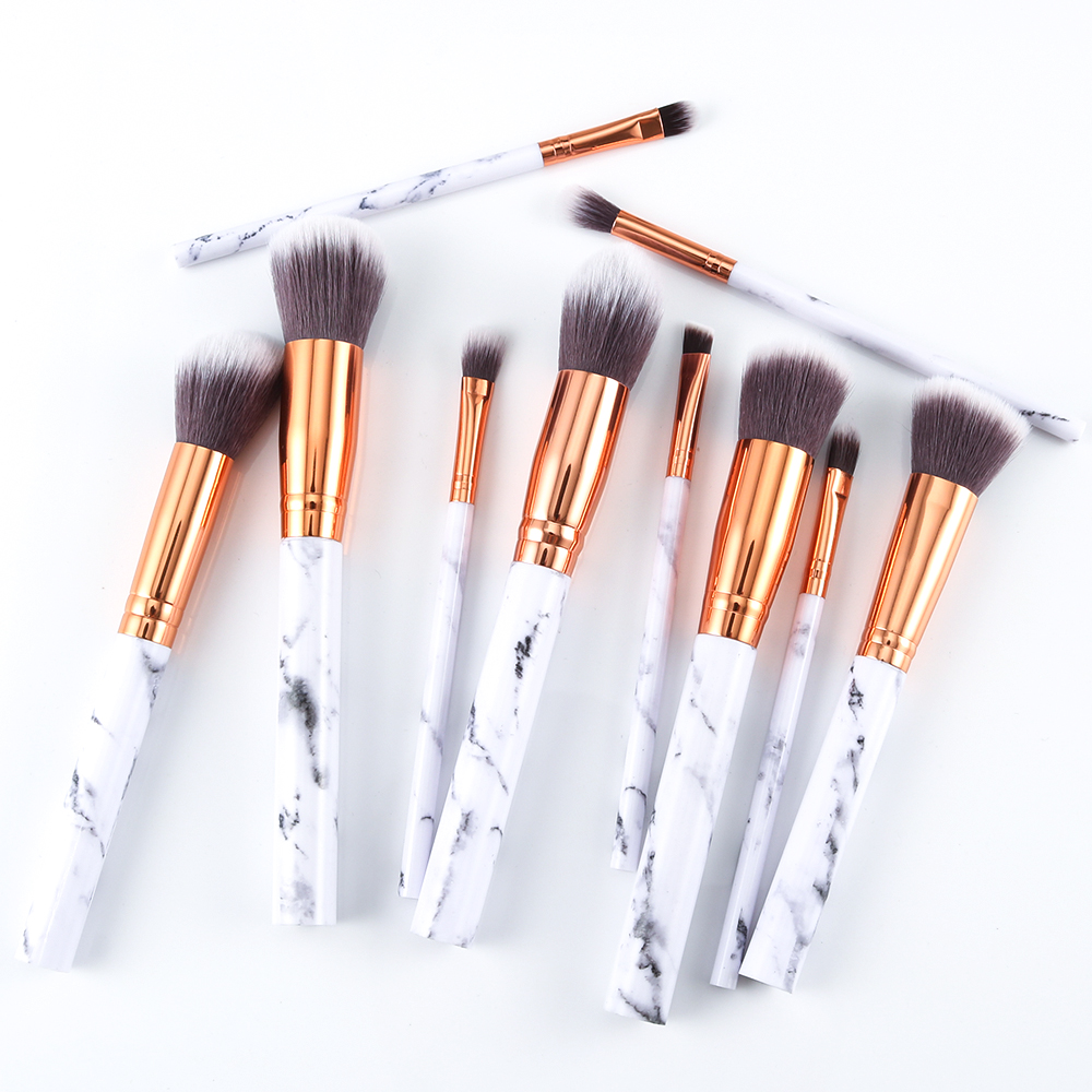 Marble makeup brushes  (10)