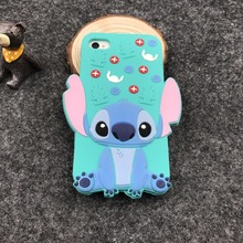 Cute 3D Cartoon Phone Cases For Apple iPhone 4s Stitch Minnie Case Soft Silicone Cover For iphone4s 4 Coque Full Protective case
