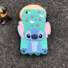 Cute 3D Cartoon Phone Cases For Apple iPhone 4s Stitch Minnie Case Soft Silicone Cover For iphone4s 4 Coque Full Protective case(China)