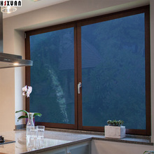 transparent decorative window Mirror film 60x100cm Blue Self-Adhesive glue solar reflective window sticker Hsxuan brand 606503